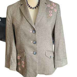 American Eagle Outfitters tweed blazer sz L